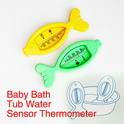 Baby Bath Tub Thermometer Safety Floating Fish Design Measure Water Temperature#