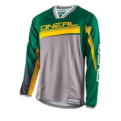 ONeal Element FR Jersey Grün Grau MTB AM Mountain Bike Shirt Fahrrad Freeride DH