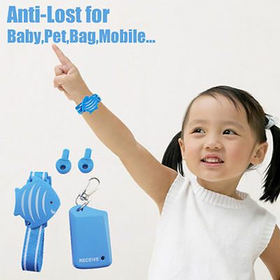 Lovely Fish Wristband Anti-Lost Safety Alarm Child Pet Locator Security Monitor