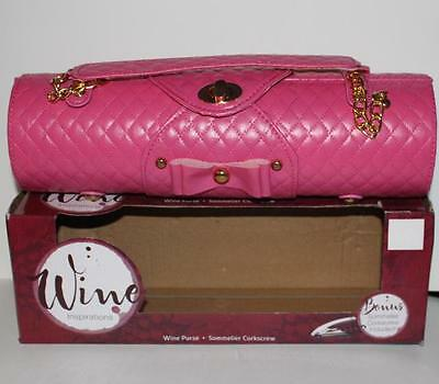 Sassy Pink Wine Purse Bag Holder *sommelier Corkscrew Get Your Wine To The Party