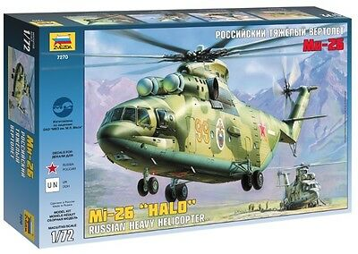 "ZVEZDA 7270 - Russian Heavy Military Helicopter Mi-26 ""Halo"" / Scale Model 1/72"