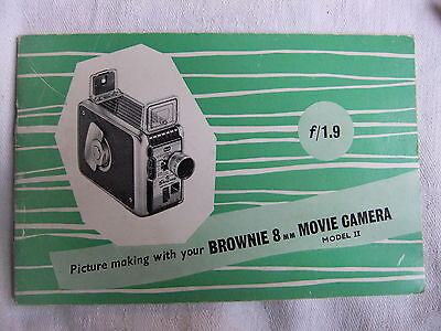 Instructions cine movie camera BROWNIE 8mm Model II f/1.9 - CD/Email