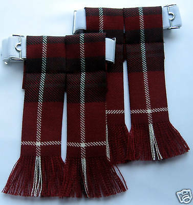 Kilt Hose Sock Flashes Stuart Of Bute Modern Hunting Tartan Worsted Wool Kilts