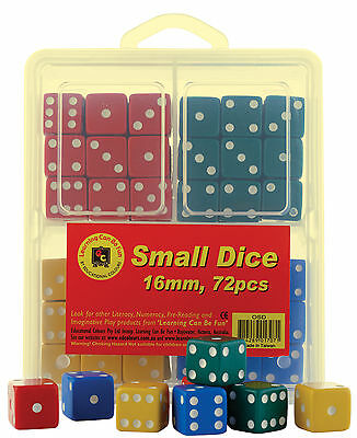 Learning Can Be Fun Small Dice 16mm  72 pack Classroom Bulk Die Set