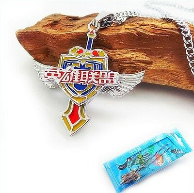 Anime LOL League of Legends Sword Signs Rotating Pendant Necklace Collection