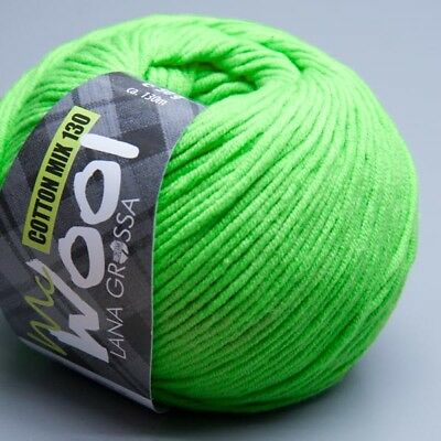 Lana Grossa McWool Cotton Mix 130 - 120 lime green 50g Wolle
