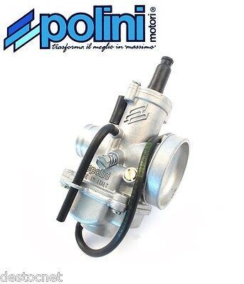 Carburateur carbu POLINI type CP Ø17,5  Souple Starter à Levier  201.1700