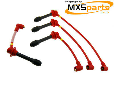 Magnecor 8.5mm Ignition HT Spark Plug Leads Wires Cable Mazda MX5 Mk1 NA 1.6 1.8