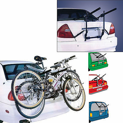Boot Mounted Universal 2 Bicycle Carrier Car Rack Bike Cycle Fits Most Cars Rear