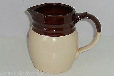 McCoy Pitcher Brown Tan Cream Vintage 1272 USA Mint Pottery Collector