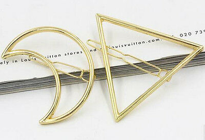 1pc Vogue Brilliant Moon OR Triangle Style Lady Hairpin HairClip Hair Accessory