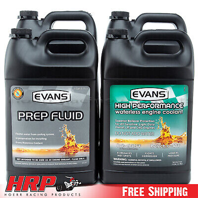 (3)Evans Waterless Coolant EC53001-High Performance & (1) EC42001 PREP