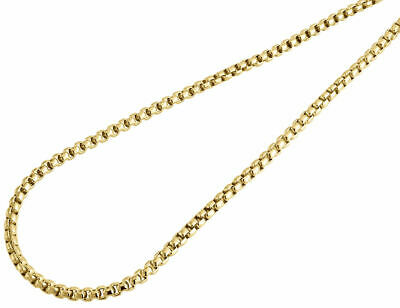 10K Real Yellow Gold Mens / Ladies 4 MM Round Box Chain Necklace 22 - 34 Inches