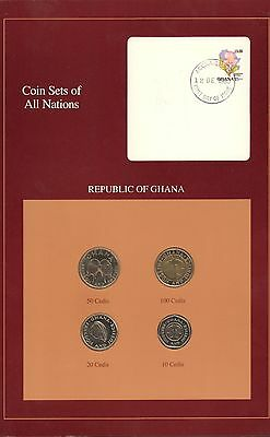 {BJSTAMPS}  Coin Sets of All Nations Republic of Ghana 1991 BU