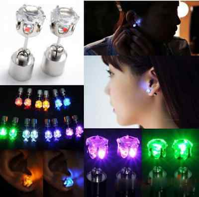 1/2/10Pcs Fashion New Led Blinking Studs Earrings Accessories for Party/Festival