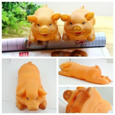 Pet large Happy brown little pig al dente dog squeeze toy with squeaky 48