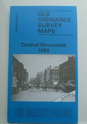 OLD Ordnance Survey Maps Central Newcastle Tyneside 1894 Sheet 11 New