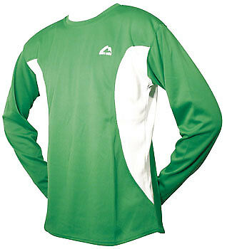 More Mile Long Sleeve Junior Running Top - Green