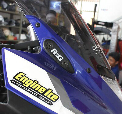 R&G Racing Mirror Blanking Plates to fit Yamaha YZF-R3