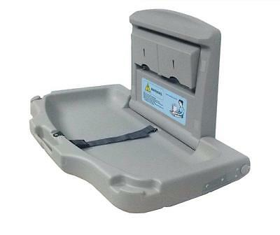 GREY Wall Mounted Fold Down Baby Changer Horizontal Changing Unit Station Table