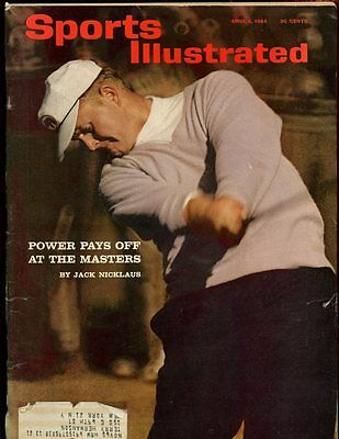April 6 1964 Sports Illustrated Magazine With Jack Nicklaus Golf Cover EX