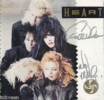 Heart Ann Wilson & Nancy Wilson  rare 45 sleeve Alone in person