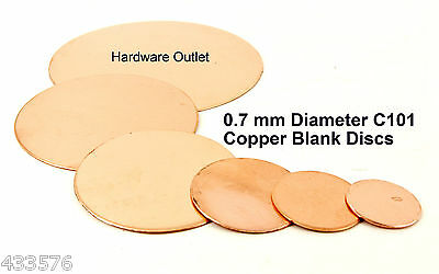 Round Copper Discs 0.7mm Thick for Enamelling Jewelery Crafts Hobbies