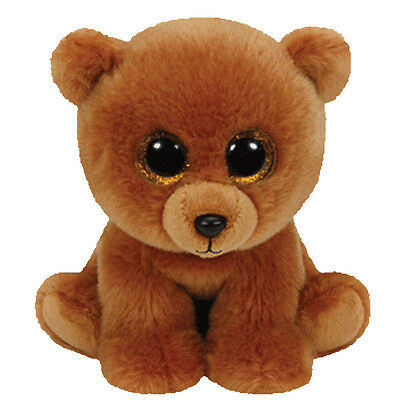 TY Classic Plush - BROWNIE the Brown Bear (9.5 inch) - MWMT's Stuffed Animal Toy