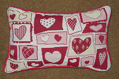Heart to Heart ~ Happy Valentine's Day Tapestry Word Pillow