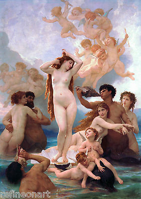 The Birth of Venus by William Bouguereau Giclee Print on Canvas