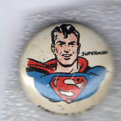 1946 pin SUPERMAN Kellogg's Breakfast Cereal PEP Premium pinback