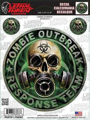 LETHAL THREAT Motorcycle Bike Board Car Computer PC Decal Sticker ZOMBIE LT88083