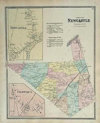 Map of New Castle New York F W Beers 1867 Westchester County