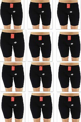 Lot Of 12 New Coony Women's Premium Athletic Gym Sport Workout Shorts Black S603