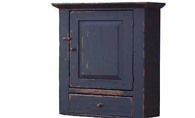 PAINTED PRIMITIVE PINE WALL CUPBOARD CABINET COUNTRY ANTIQUE REPRODUCTION FARM