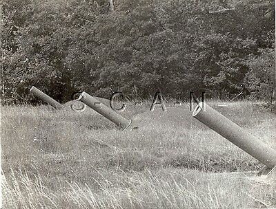 WWII US Large Press Photo- France 1940- Maginot Line- Fortification Heavy Cannon