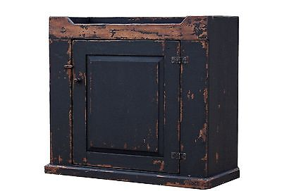 Early Old American Primitive Painted Rustic Kitchen Country Dry Sink Cabinet