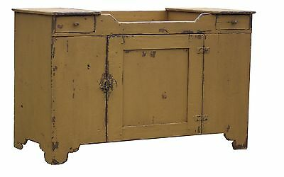 PRIMITIVE PAINTED COUNTRY FARMHOUSE DRY SINK ANTIQUE REPRODUCTION PINE CUPBOARD