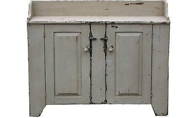 PRIMITIVE ANTIQUE REPRODUCTION COUNTRY PAINTED DRY SINK DISTRESSED CUPBOARD PINE