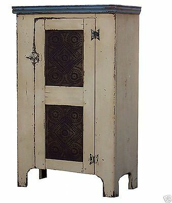 PRIMITIVE PIE SAFE ANTIQUE REPRODUCTION EARLY AMERICAN COUNTRY CUPBOARD PINE