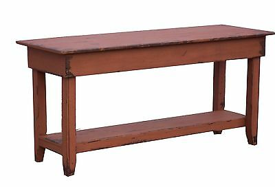 Farmhouse Sofa Hall Pine Farm Table Primitive Painted Country Rustic Colonial