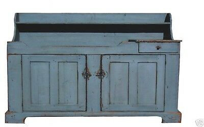 PAINTED ANTIQUE REPRODUCTION PRIMITIVE DRY SINK COUNTRY FARMHOUSE PINE CUPBOARD