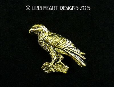 Hawk Pin Fine Pewter 24k Gold Plated Designed for Yosemite Lilli Heart Designs