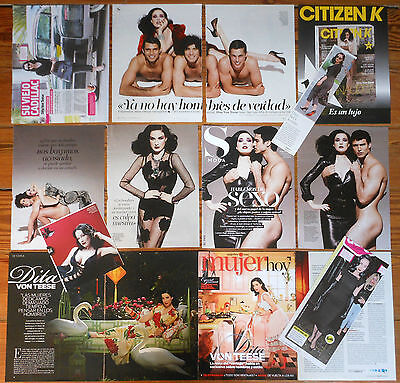 DITA VON TEESE spanish clippings photos sexy magazine covers burlesque pictures