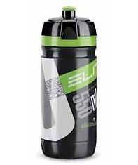 Elite Borraccia Corsa Black Logo Green 550ml
