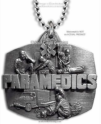 Paramedic - Star Of Life Pendant Emt Necklace Emergency Medical - Free Shipping*