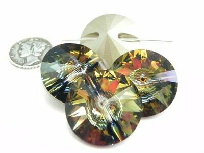 1 - Swarovski 3015 Tabac F 23Mm Rivoli Button