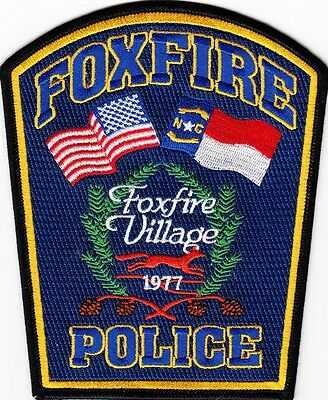 NORTH CAROLINA  -  FOXFIRE   POLICE  DEPARTMENT    Patch     ~  NEW STYLE ~