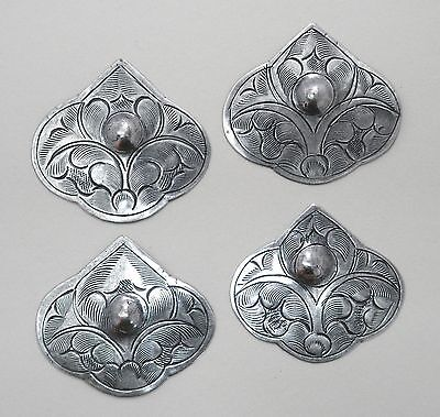 #4202 ANTIQUED SS/P CENTER DAPPED HILL TRIBE COMPONENT - 4 Pc Lot