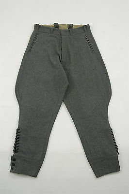 WWII German M36 officer stone gray wool breeches S/30